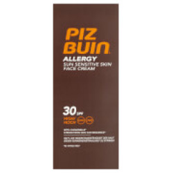 Piz Buin Allergy Sun Sensitive Skin Face Cream High SPF30 50ml