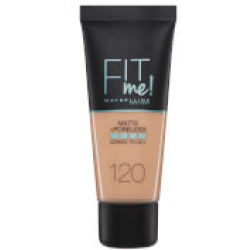 Maybelline Fit Me Matte and Poreless Foundation 30ml (Various Shades) 120 Classic Ivory