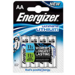 Batteri Ultimate Lithium AA L91 4pk Energizer