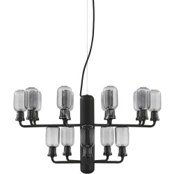 Amp Chandelier Small Smoke Black Normann Copenhagen