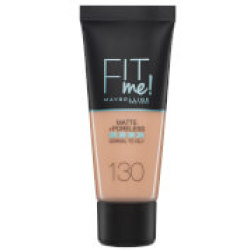 Maybelline Fit Me Matte and Poreless Foundation 30ml (Various Shades) 130 Buff Beige